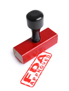 FDA APPROVED Rubber Stamp cut out on white background