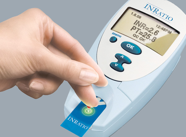 The Alere INRatio measures INR levels for those taking warfarin.